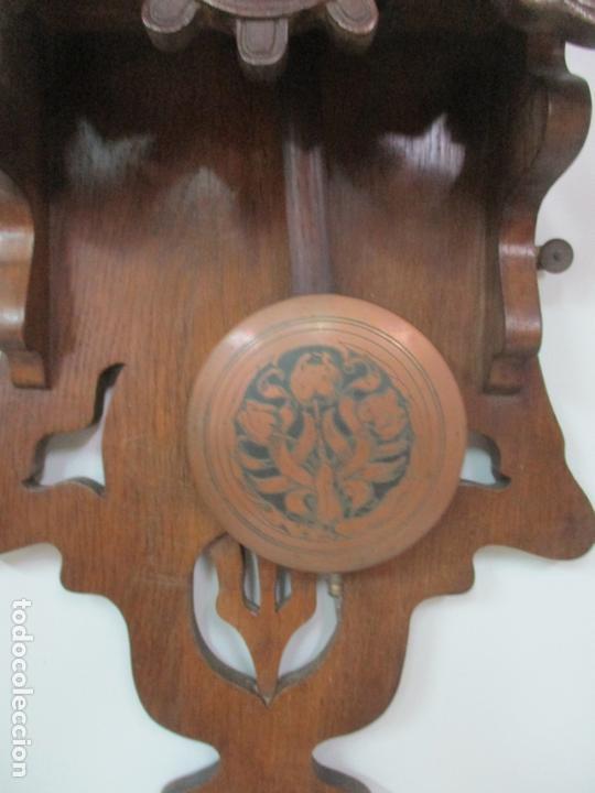 Relojes de pared: Precioso Reloj de Pared, Modernista - Marca CB, Universal Dong - Madera Roble - Completo - Funciona - Foto 8 - 167823308