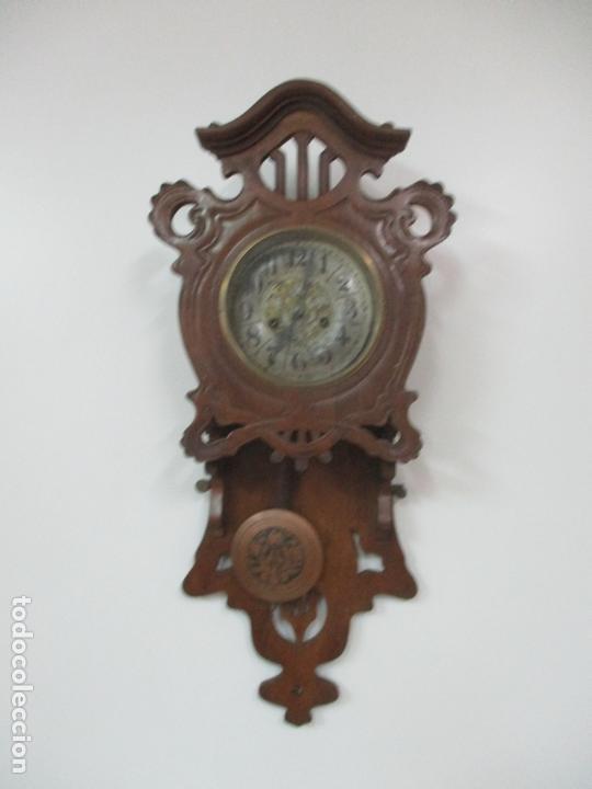 Relojes de pared: Precioso Reloj de Pared, Modernista - Marca CB, Universal Dong - Madera Roble - Completo - Funciona - Foto 10 - 167823308