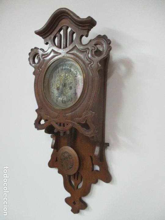 Relojes de pared: Precioso Reloj de Pared, Modernista - Marca CB, Universal Dong - Madera Roble - Completo - Funciona - Foto 11 - 167823308