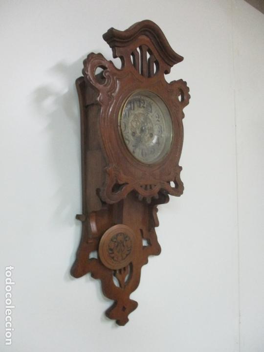 Relojes de pared: Precioso Reloj de Pared, Modernista - Marca CB, Universal Dong - Madera Roble - Completo - Funciona - Foto 12 - 167823308
