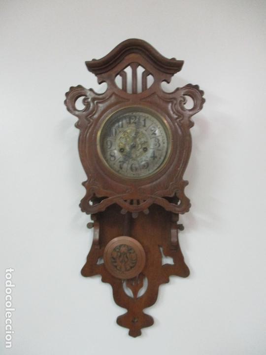 Relojes de pared: Precioso Reloj de Pared, Modernista - Marca CB, Universal Dong - Madera Roble - Completo - Funciona - Foto 13 - 167823308