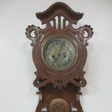 Relojes de pared: PRECIOSO RELOJ DE PARED, MODERNISTA - MARCA CB, UNIVERSAL DONG - MADERA ROBLE - COMPLETO - FUNCIONA. Lote 167823308
