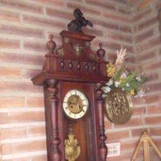 Relojes de pared: ¡¡GRANDISIMA OFERTA 5 DIAS!!!ANTIGUO RELOJ ALFONSINO ART-NOUVEAU-JUNGHANS-AÑO 1910-FUNCIONA ---. Lote 167837324