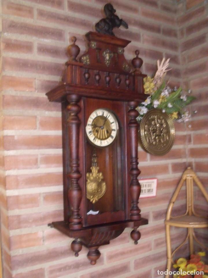 Relojes de pared: ¡¡GRANDISIMA OFERTA 5 DIAS!!!antiguo reloj alfonsino art-nouveau-junghans-año 1910-funciona --- - Foto 3 - 167837324