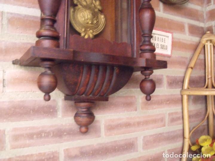 Relojes de pared: ¡¡GRANDISIMA OFERTA 5 DIAS!!!antiguo reloj alfonsino art-nouveau-junghans-año 1910-funciona --- - Foto 4 - 167837324