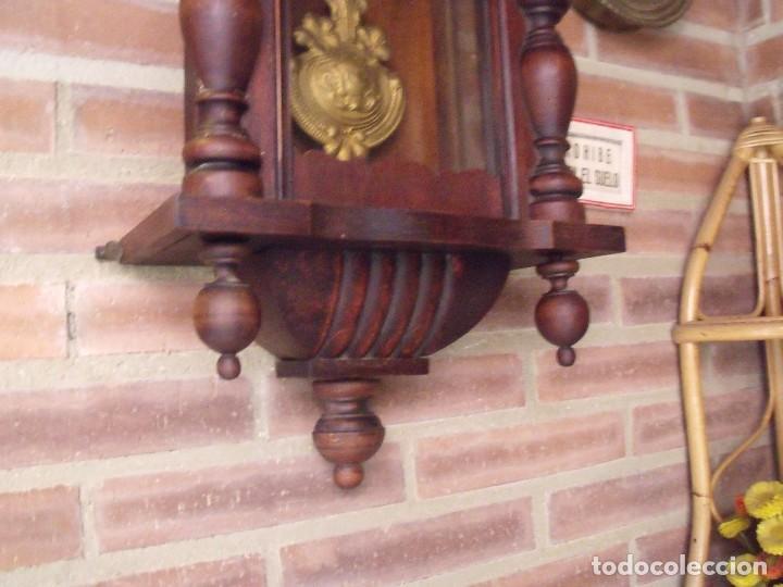Relojes de pared: ¡¡GRANDISIMA OFERTA 5 DIAS!!!antiguo reloj alfonsino art-nouveau-junghans-año 1910-funciona --- - Foto 5 - 167837324