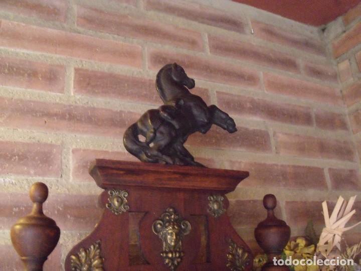 Relojes de pared: ¡¡GRANDISIMA OFERTA 5 DIAS!!!antiguo reloj alfonsino art-nouveau-junghans-año 1910-funciona --- - Foto 6 - 167837324