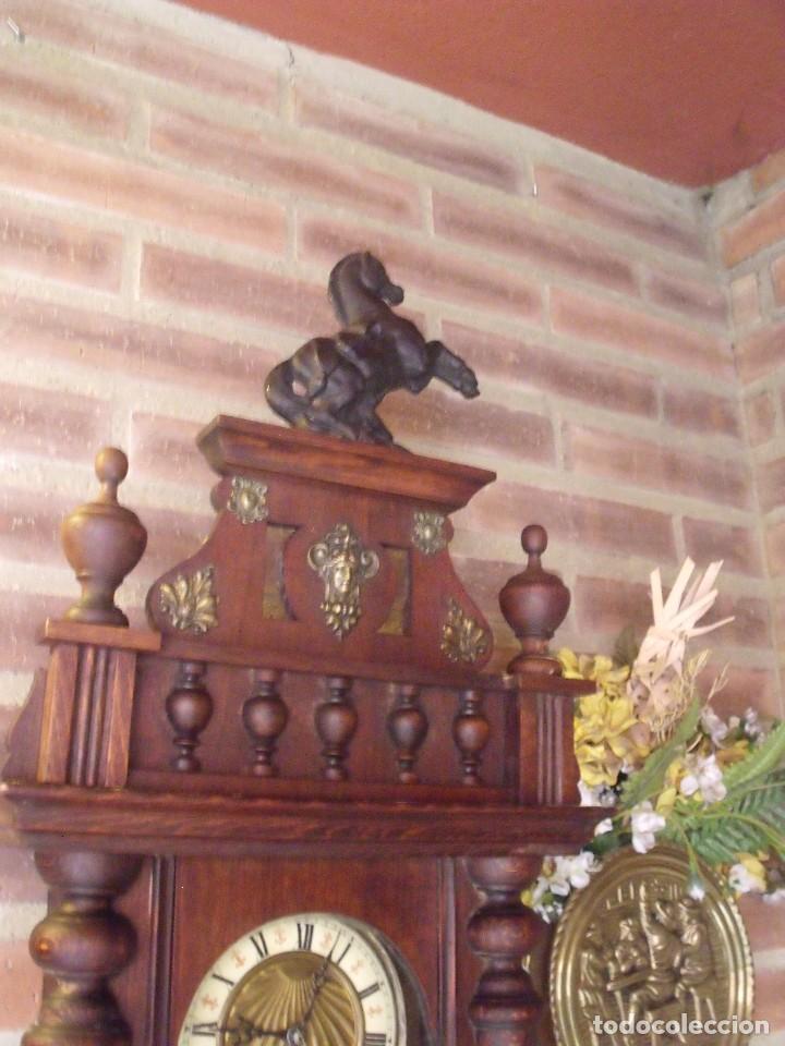 Relojes de pared: ¡¡GRANDISIMA OFERTA 5 DIAS!!!antiguo reloj alfonsino art-nouveau-junghans-año 1910-funciona --- - Foto 7 - 167837324