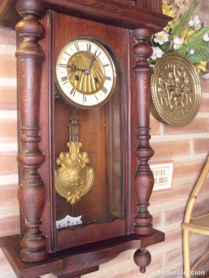 Relojes de pared: ¡¡GRANDISIMA OFERTA 5 DIAS!!!antiguo reloj alfonsino art-nouveau-junghans-año 1910-funciona --- - Foto 8 - 167837324
