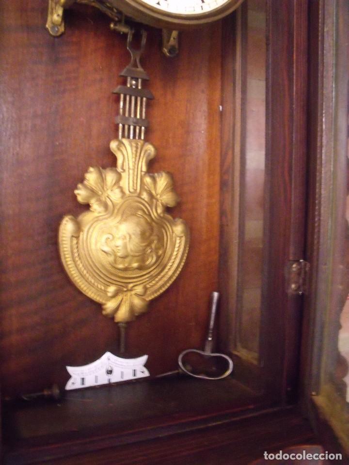 Relojes de pared: ¡¡GRANDISIMA OFERTA 5 DIAS!!!antiguo reloj alfonsino art-nouveau-junghans-año 1910-funciona --- - Foto 11 - 167837324