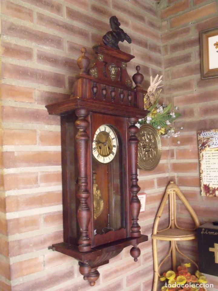 Relojes de pared: ¡¡GRANDISIMA OFERTA 5 DIAS!!!antiguo reloj alfonsino art-nouveau-junghans-año 1910-funciona --- - Foto 12 - 167837324
