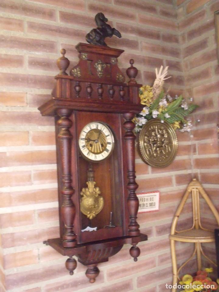 Relojes de pared: ¡¡GRANDISIMA OFERTA 5 DIAS!!!antiguo reloj alfonsino art-nouveau-junghans-año 1910-funciona --- - Foto 13 - 167837324