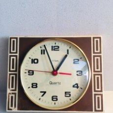 Relojes de pared: TITAN - QUARTZ TITÁN - RELOJ DE PARED - JAPAN 6. Lote 168120614