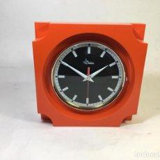 Relojes de pared: RELOJ DE PARED ROSSONERO BY DIAMANTINI E DOMENICONI ITALIA 1973 NUEVO A ESTRENAR 21,50X21,50 CM, PR. Lote 168462816