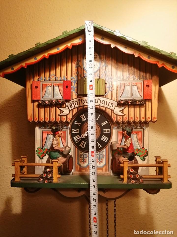 Relojes de pared: RELOJ CUCU-CUCO MUSICAL CON AUTÓMATAS BEBIENDO CERVEZA.WEST GERMANY(SELVA NEGRA). - Foto 3 - 169026288