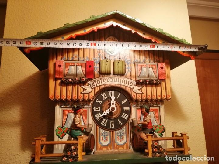 Relojes de pared: RELOJ CUCU-CUCO MUSICAL CON AUTÓMATAS BEBIENDO CERVEZA.WEST GERMANY(SELVA NEGRA). - Foto 5 - 169026288