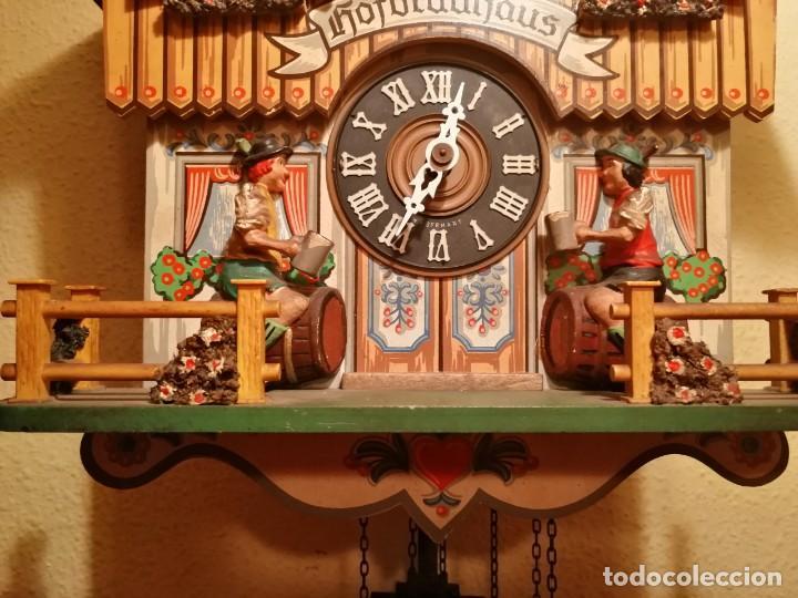Relojes de pared: RELOJ CUCU-CUCO MUSICAL CON AUTÓMATAS BEBIENDO CERVEZA.WEST GERMANY(SELVA NEGRA). - Foto 7 - 169026288