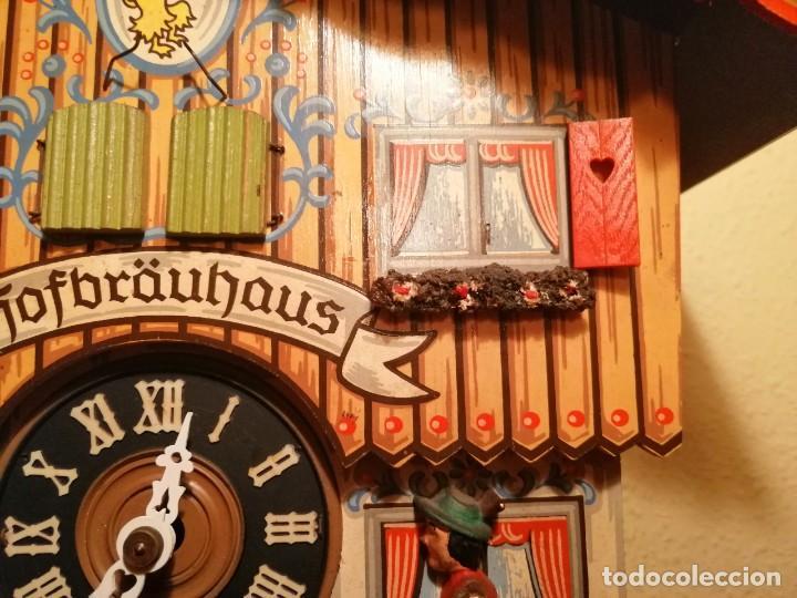Relojes de pared: RELOJ CUCU-CUCO MUSICAL CON AUTÓMATAS BEBIENDO CERVEZA.WEST GERMANY(SELVA NEGRA). - Foto 8 - 169026288