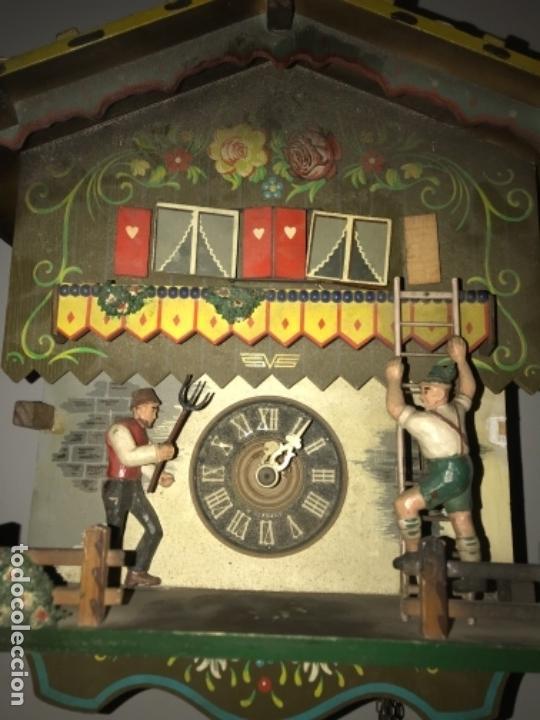 Relojes de pared: Antiguo reloj cuco aleman , pintado a mano leed descripcion - Foto 2 - 169355760