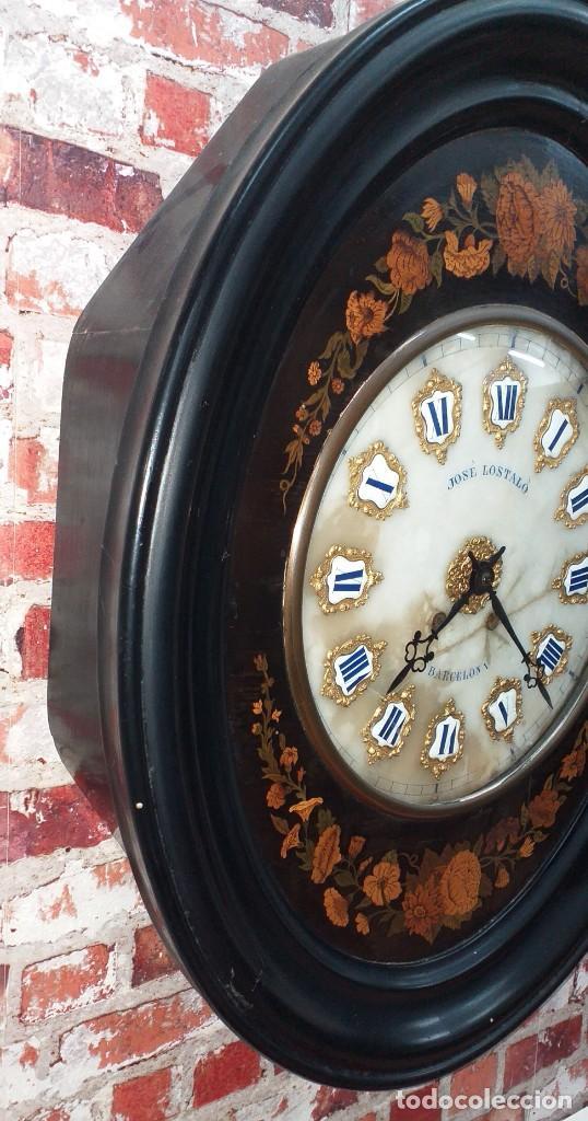 Relojes de pared: ANTIGUO RELOJ DE PARED FINALES SIGLO XIX - Foto 3 - 169427040