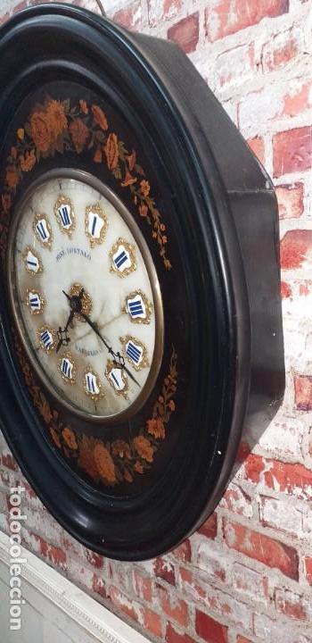 Relojes de pared: ANTIGUO RELOJ DE PARED FINALES SIGLO XIX - Foto 4 - 169427040