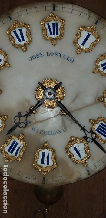 Relojes de pared: ANTIGUO RELOJ DE PARED FINALES SIGLO XIX - Foto 7 - 169427040