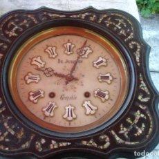 Relojes de pared: MUY BONITO RELOJ OJO DE BUEY SIGLO XIX ESFERA EN ALABASTRO VER FOTOS DE COLECCION. Lote 169487300