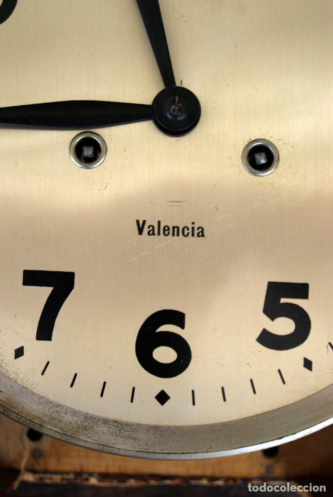 Relojes de pared: ANTIGUO RELOJ DE PARED CARGA MANUAL PUBLICIDAD RELOJERÍA ESPARZA VALENCIA AÑOS 30. - Foto 6 - 169571828