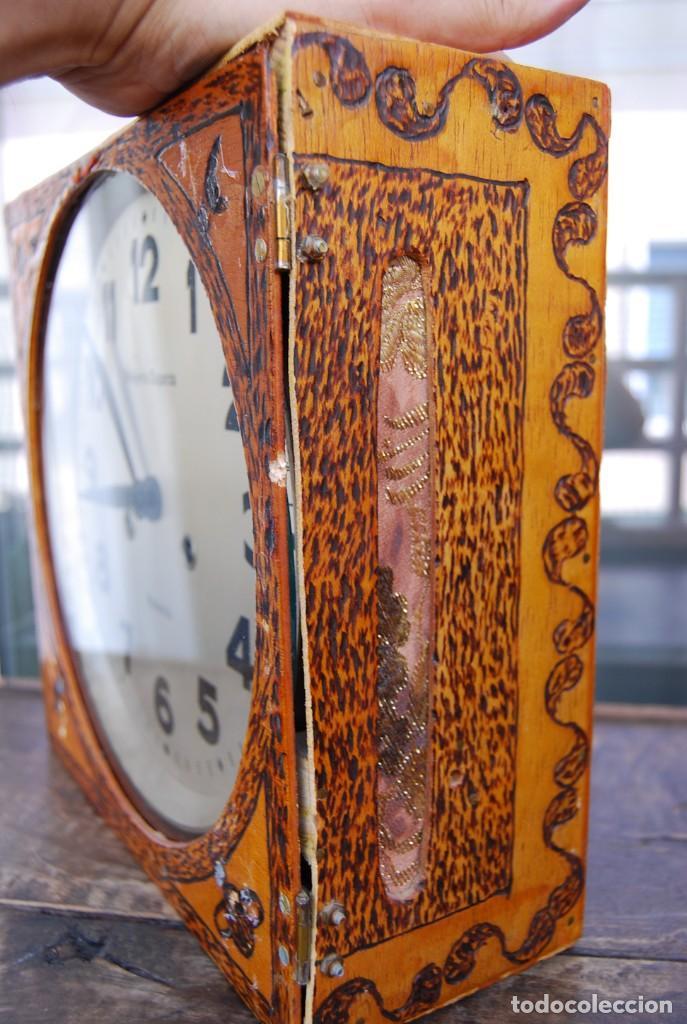 Relojes de pared: ANTIGUO RELOJ DE PARED CARGA MANUAL PUBLICIDAD RELOJERÍA ESPARZA VALENCIA AÑOS 30. - Foto 22 - 169571828