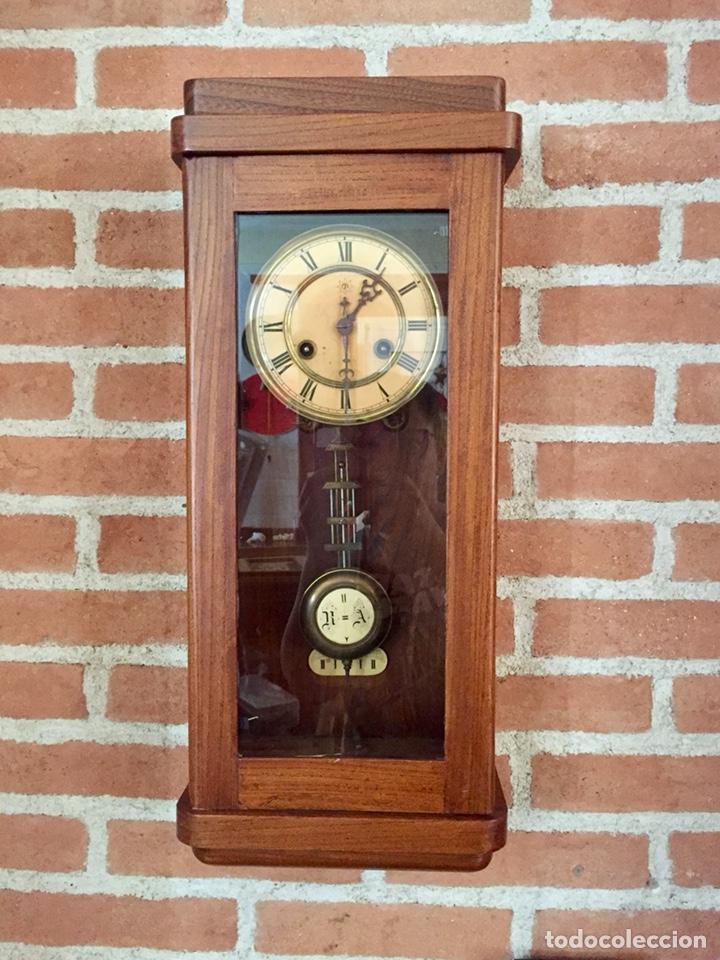 RELOJ DE PARED UNGHANS, ESTILO ART DECO (Relojes - Pared Carga Manual)