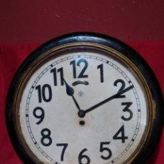 Relojes de pared: RELOJERIA MAURER RELOJ REDONDO OJO DE BUEY DEL BAR PICULIN DE PRAT DEL LLOBREGAT JUNGHANS AÑOS 20. Lote 169853460