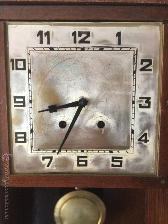 Relojes de pared: RELOJ DE PARED MAQUINARIA A CUERDA CAJA EN MADERA DE ROBLE CON MARCA PORTU / ACH BARCELONA - Foto 2 - 170359522