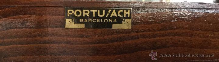 Relojes de pared: RELOJ DE PARED MAQUINARIA A CUERDA CAJA EN MADERA DE ROBLE CON MARCA PORTU / ACH BARCELONA - Foto 3 - 170359522