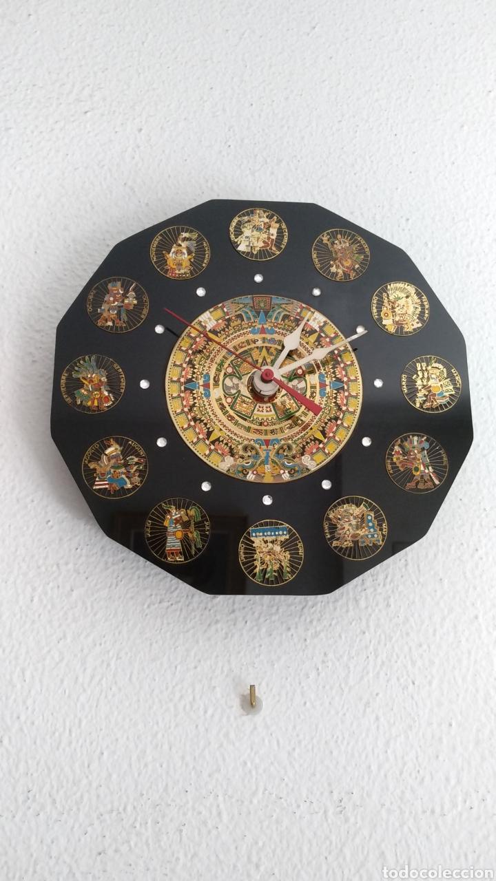 RELOJ CALENDARIO AZTECA MEXICANO (Relojes - Pared Carga Manual)