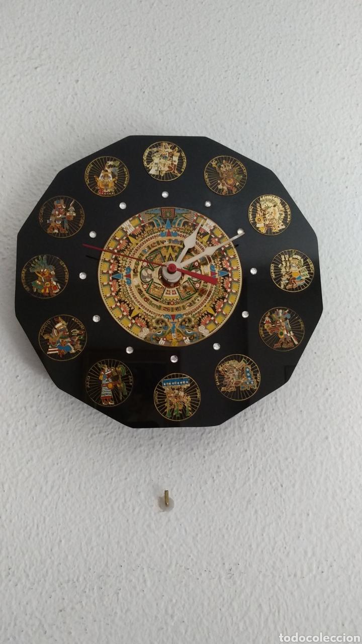 Relojes de pared: RELOJ CALENDARIO AZTECA MEXICANO - Foto 2 - 171106419