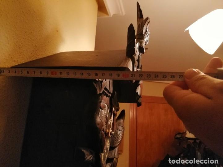 Relojes de pared: ANTIGUO RELOJ CUCU-CUCO TIPO CODORNIZ,CON PÁJAROS DE MADERA QUE MUEVEN LAS ALAS(HUBERT HERR TRIBERG) - Foto 11 - 171249045