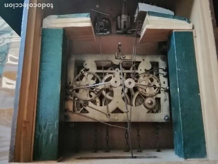 Relojes de pared: ANTIGUO RELOJ CUCU-CUCO TIPO CODORNIZ,CON PÁJAROS DE MADERA QUE MUEVEN LAS ALAS(HUBERT HERR TRIBERG) - Foto 16 - 171249045