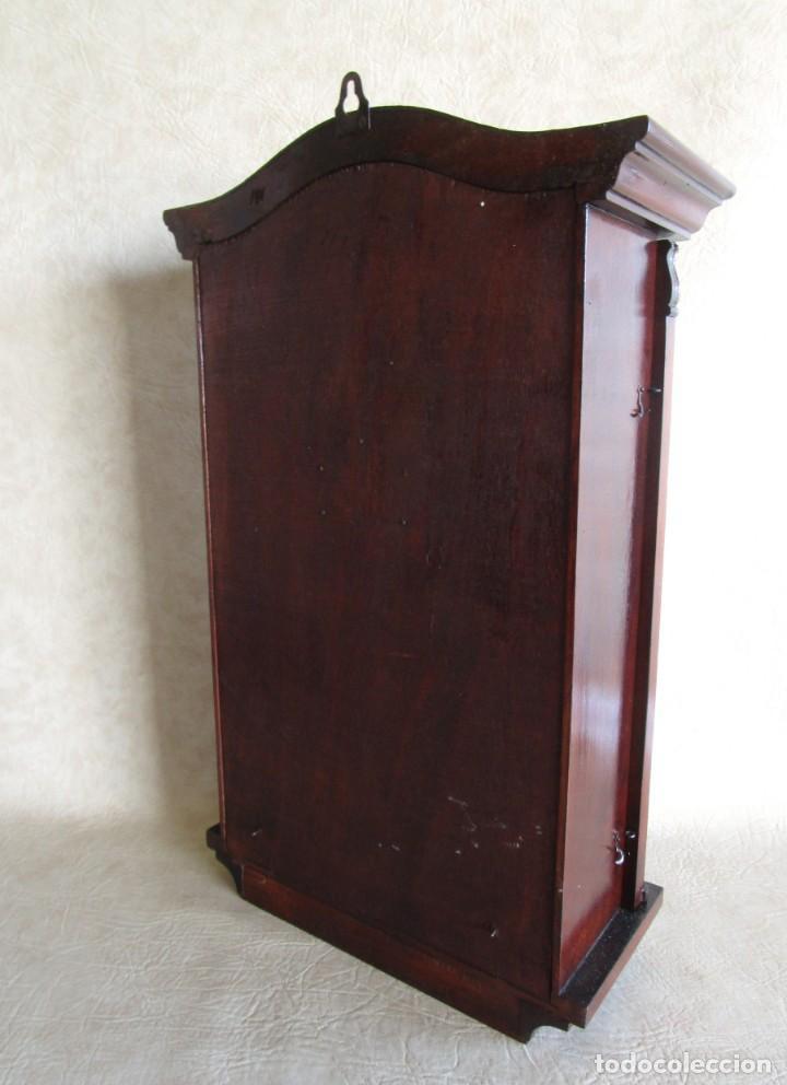 Relojes de pared: antiguo reloj pared caja madera restaurado funciona! - Foto 6 - 171450212