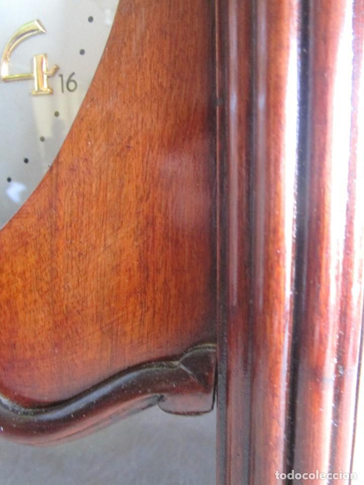Relojes de pared: antiguo reloj pared caja madera restaurado funciona! - Foto 11 - 171450212