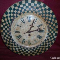 Relojes de pared: MAGNIFICO ANTIGUO RELOJ A CUERDA PRINCIPIOS DEL 1900. Lote 171975805