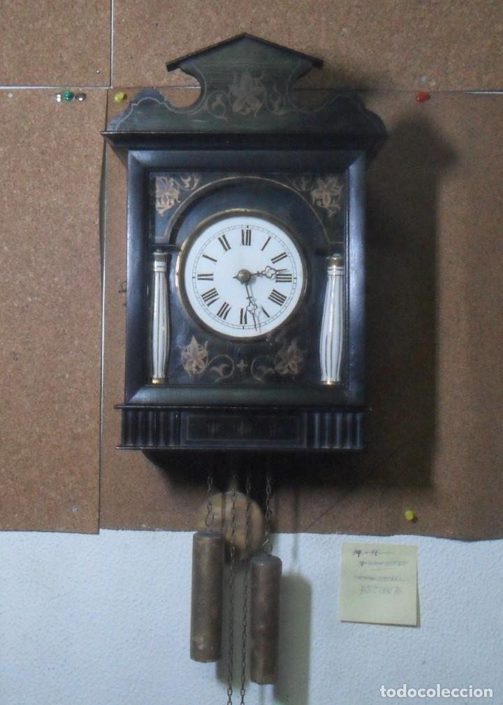 RELOJ DE PARED – SELVA NEGRA C'1860 *** FUNCIONA (Relojes - Pared Carga Manual)