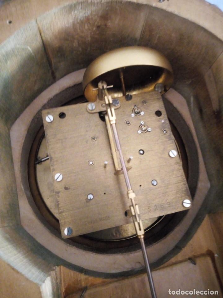Relojes de pared: espectacular reloj de pared de carga manual luxor suisse made,madera recubierta de porcelana con oro - Foto 29 - 172787003