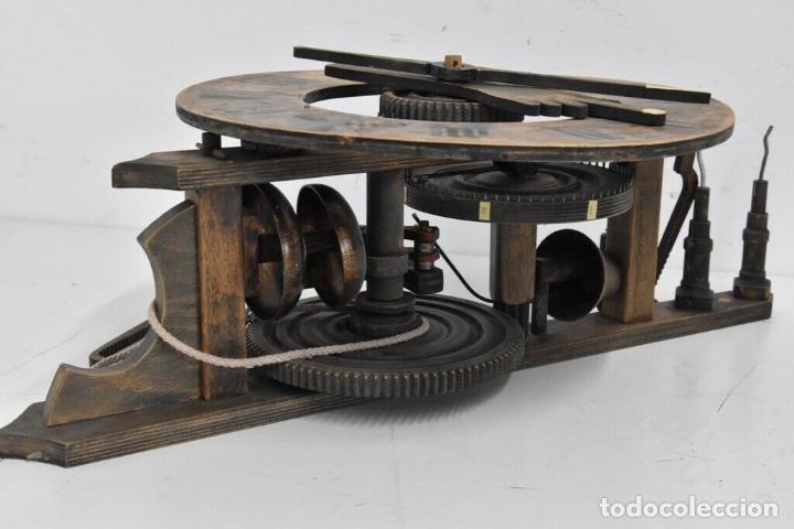 Relojes de pared: gran reloj madera muy raro s. XIX 3 campanas .Dimensiones: 60x83x25 cm pieza de museo 980 eu. - Foto 3 - 173082357