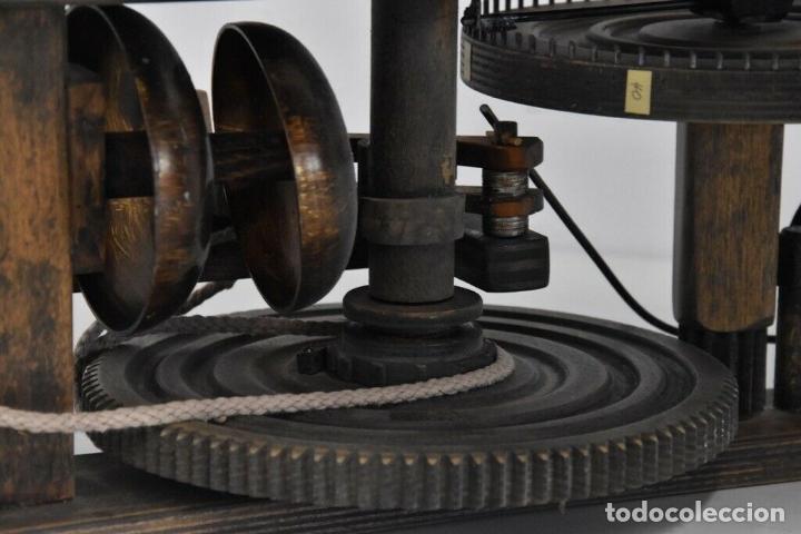 Relojes de pared: gran reloj madera muy raro s. XIX 3 campanas .Dimensiones: 60x83x25 cm pieza de museo 980 eu. - Foto 4 - 173082357
