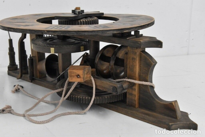 Relojes de pared: gran reloj madera muy raro s. XIX 3 campanas .Dimensiones: 60x83x25 cm pieza de museo 980 eu. - Foto 6 - 173082357