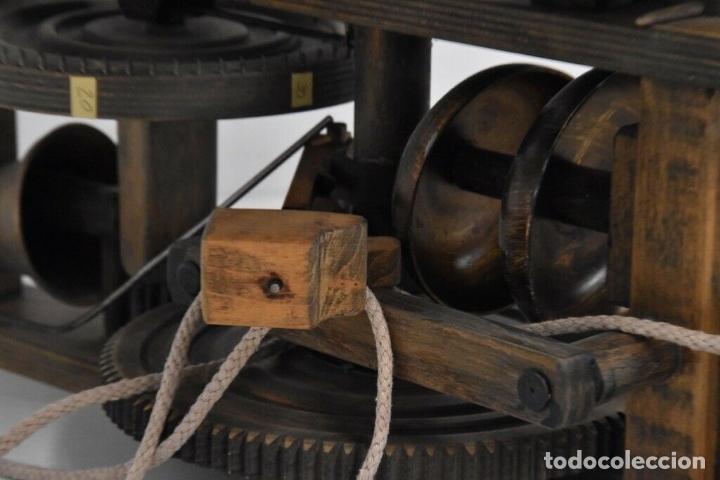 Relojes de pared: gran reloj madera muy raro s. XIX 3 campanas .Dimensiones: 60x83x25 cm pieza de museo 980 eu. - Foto 8 - 173082357