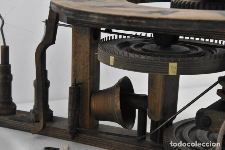 Relojes de pared: gran reloj madera muy raro s. XIX 3 campanas .Dimensiones: 60x83x25 cm pieza de museo 980 eu. - Foto 9 - 173082357