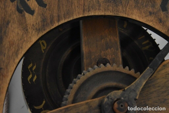 Relojes de pared: gran reloj madera muy raro s. XIX 3 campanas .Dimensiones: 60x83x25 cm pieza de museo 980 eu. - Foto 10 - 173082357