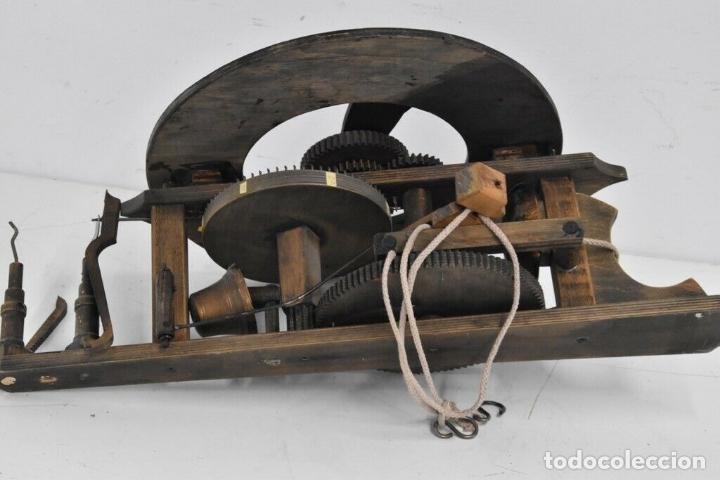 Relojes de pared: gran reloj madera muy raro s. XIX 3 campanas .Dimensiones: 60x83x25 cm pieza de museo 980 eu. - Foto 11 - 173082357