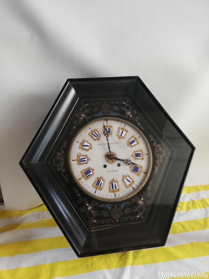 IMPRESIONANTE RELOJ OJO DE BUEY GRAN GOLIATH SIGLO XIX ESFERA DE ALABASTRO (Relojes - Pared Carga Manual)